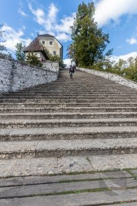 99 stairs to Pilgrimage Church of the Assumption of Maria