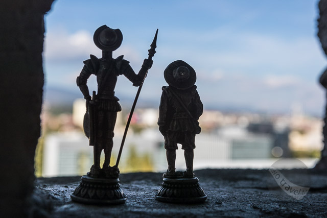Don Quixote and Sancho Panza overlooking Zagreb