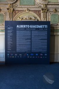 Panel at entrance to Alberto Giacometi exhibition