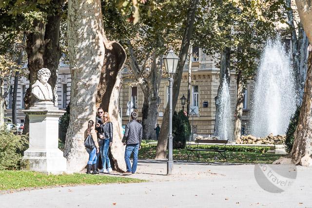 People watching at Park Zrinjevac