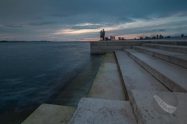Sunset at Sea Organ in Zadar