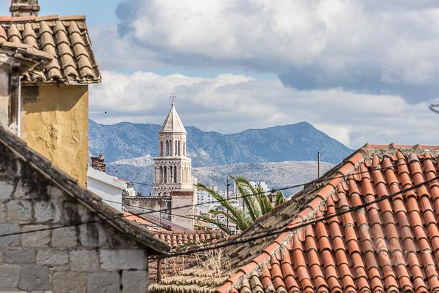 View looking down Senjska in Split