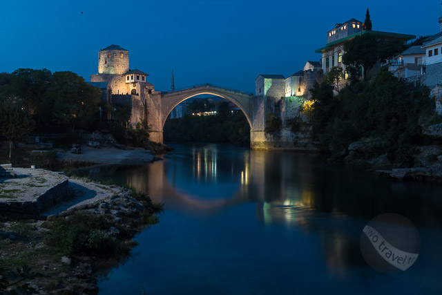 Stari Most, Mostar at Night