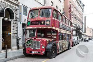 London Bus in Sarajevo