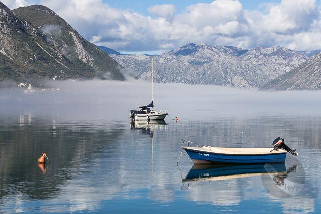 Boats in Dobrota, Kotor