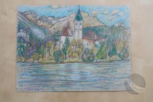 Church on Bled Island (sketch by Fiona)